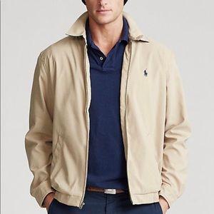 Polo Ralph Lauren Tan Plaid Lined Zip Up Jacket